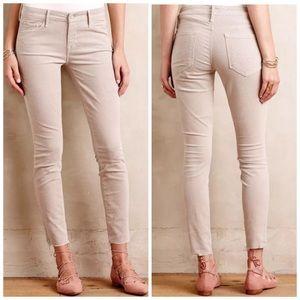 Mother Looker Jeans Ankle Fray Hopscotch Skinny 25